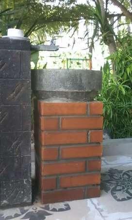 Bata tempel expose terakota batu putih merah roster loster genteng