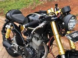Honda tiger cafe racer full modification