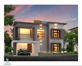 1300 sqft, 3BHK With Mini Gym and Visitors Parking near vellimadukunnu