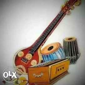 Tabla harmonium singing and guitar classes