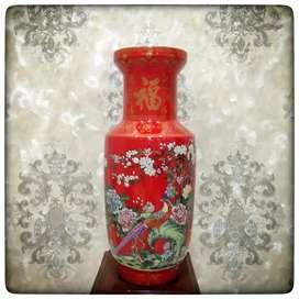 Vas Antik Merah China Porselen