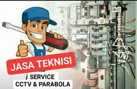 MELAYANI SERVICE DAN PEMASANGAN BARU CCTV DAN PARABOLA, TEKNISI JOSS