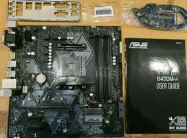 Asus prime b450 mobo support ryzen cpu with 3 yr local warranty