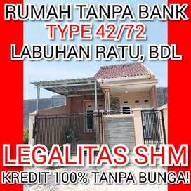 Rumah tanpa bank, dibelakang radar lampung way halim, Unit terbatas!!