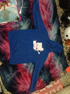 hoodie vans original size M biru jual cepat murah meriah BU like new