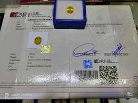 8cts up Yellow Sapphire Srilangka Sertifikat Ready