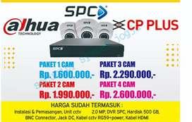 Paket Pasang CCTV ,4 kamera CP PlusFree instalasi cctv murah