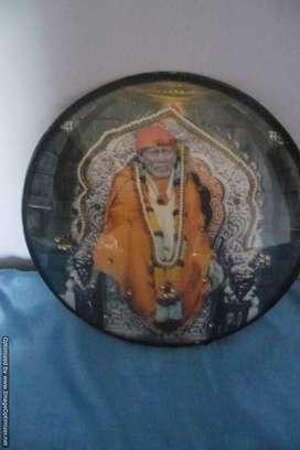 Lord Saibaba  oval Glass Photo Frame