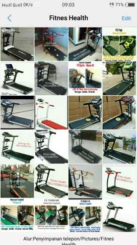 cari alat fitnes harga murah barang baru treadmill manual &listrik