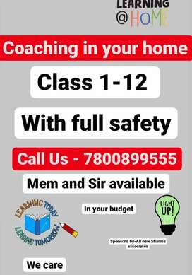 We are provide home tution in your home home tutor available in gkp