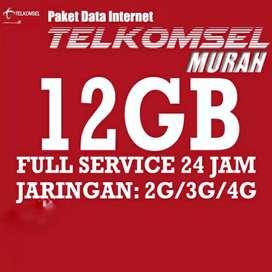 Telkomsel tembak data 12Gb full