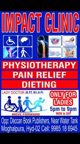 PHYSIOTHERAPY TREATMENT ONLY FOR LADIES