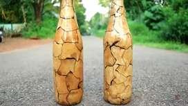 I am doing some bottle art please support