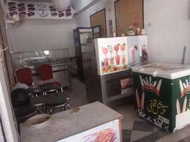 Running refreshment restaurant for sale or contract basis.