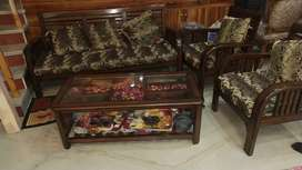 Sofa and table with nice cushions