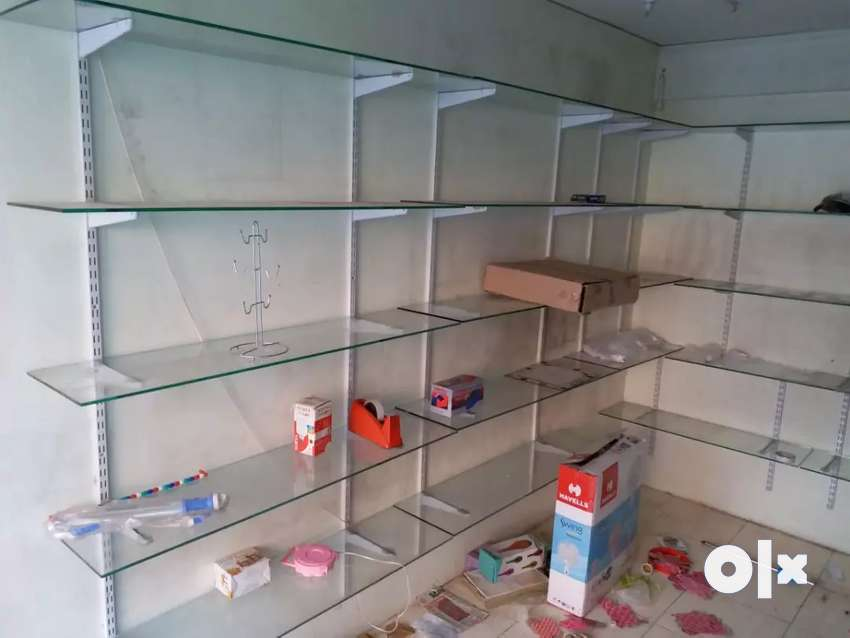 Shop closed..glass shelf or big glass partition 0