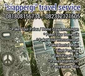 Tiket Pesawat, Rental Mobil.l Bis.  Kereta Api, Villa, Tour Lembongan