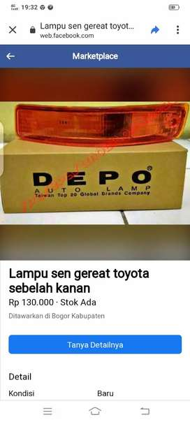 Lampu sen great Toyota Corolla sebelah kanan