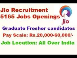 Welcome to telecom company Reliance jio.  Reliance Jio huge vacancy Ur