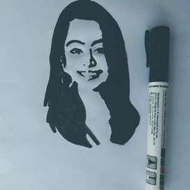Rashmika Stencil art