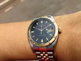 Ori 50s Rolex Thunderbird Turn O Graph TOG 6609 gilt dial Two Tone