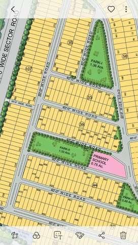 300 Sqyd plot on 60 ft road for sale in Emaar, Sec 109, Mohali