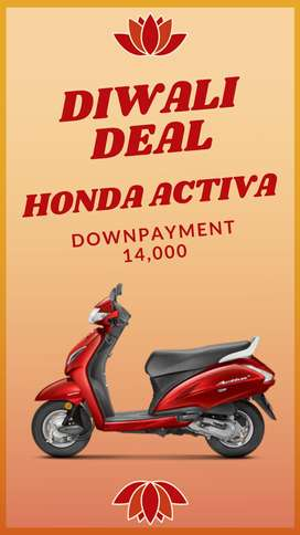DIWALI OFFER! GET NEW HONDA ACTIVA 5G WITH LESS DP & ROI & HUGE OFFERS