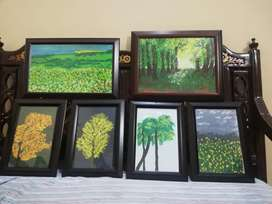 Paintings with frames