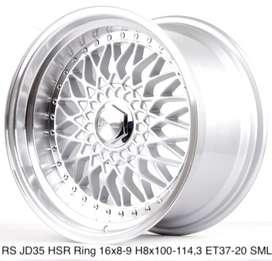 Velg RS JD35 HSR R16X8/9 H8X100-114,3 ET37/20 SML