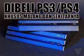 Dibeli PS3/PS4 bekasan yang normal pakai, harga cocok angkut