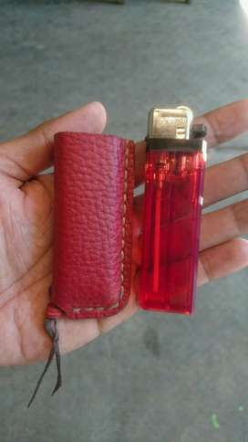 Wadah Korek Gas Genuine Leather