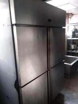 Used restaurant kitchen equipment ss fridge vertical 2 door chiller
