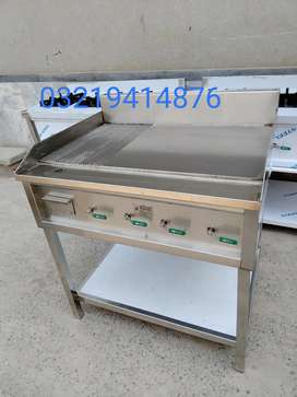 Hot plate with lining grill