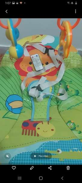 Electronic Swing with music for new born to 12 month kids