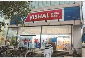 Urgent requirements in vishal as sales female and males.