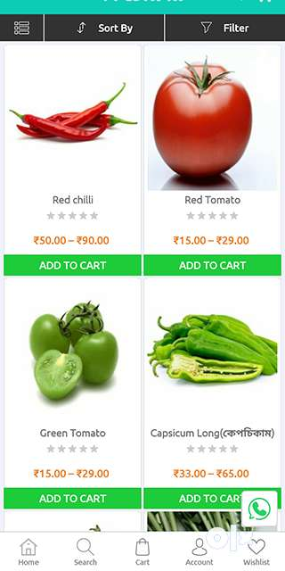 Mobile app for grocery, restaurants, urban clap