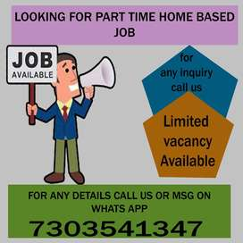 home based part time data entry work available