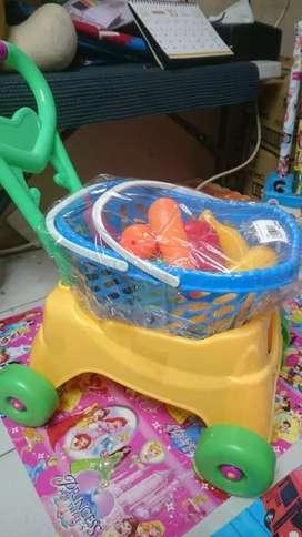 Mainan anak shoping cart baru