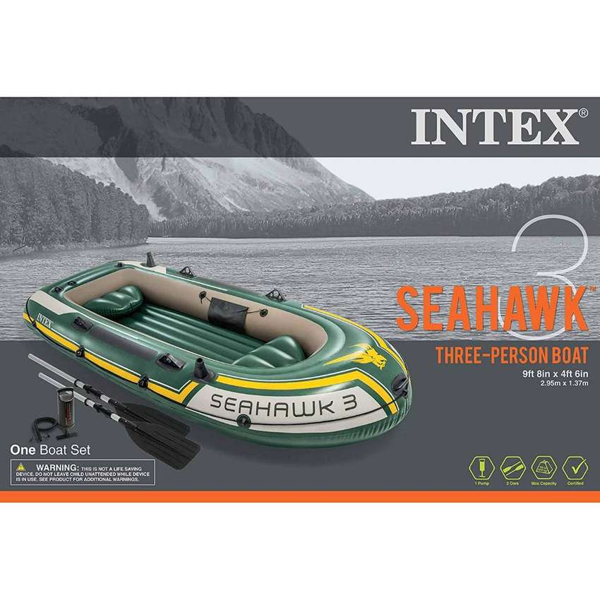 "INTEX Seahawk 3 Boat Set 3 Person ( 116"" x 54"" x 17"" ) 0"