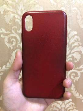 Apple Leather Case Iphone X Product RED Original