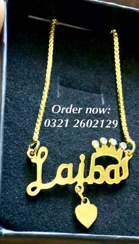Name necklace and jewelry