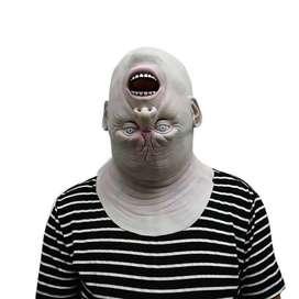 Topeng kepala terbalik seram fullhead latex horror halloween mask ID93
