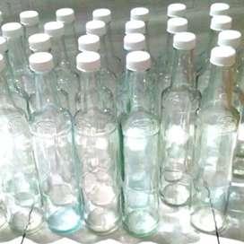 Botol Kaca Marjan Seperti Baru BONUS TUTUP