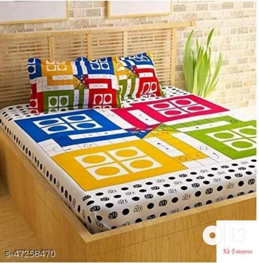 Double bed ludo bedsheet