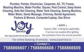 Plumber, Painter, Electrician, Carpenter, AC Servicing, Water Purifier