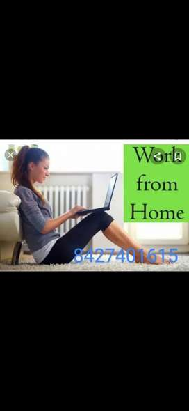 21)Good home based job data entry work