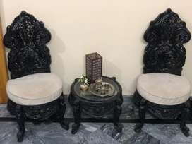 Chinyoti chairs with table
