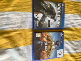 PS4 DVD PUBG and watchdogs
