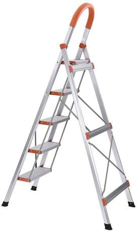 5 Step Stainless Steel Household Ladder Aone