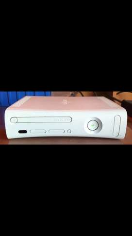 XBOX 360 , with 2 controllers,   over 30 CD games